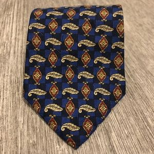 Oscar de la Renta Royal Blue Silk Tie